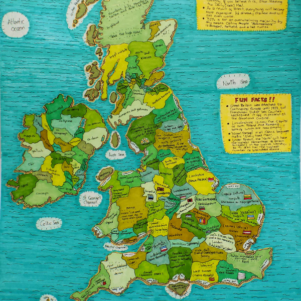 Map of Brexit